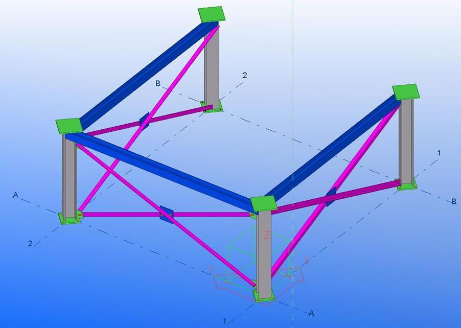 Nota de cálculo de ampliación y elevación de estructura de  tolva de sal en industria química.