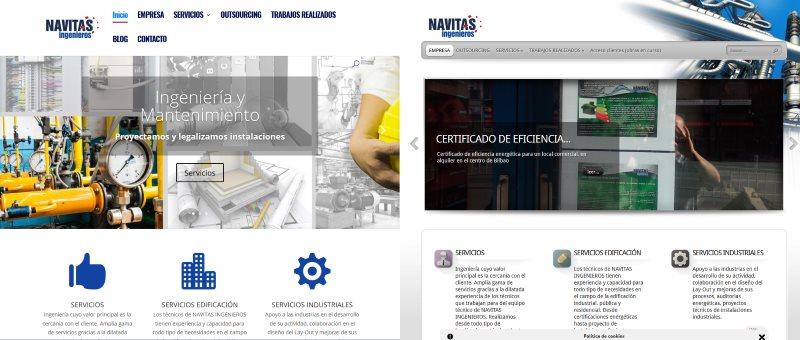 Nueva página web de Navitas Ingenieros.